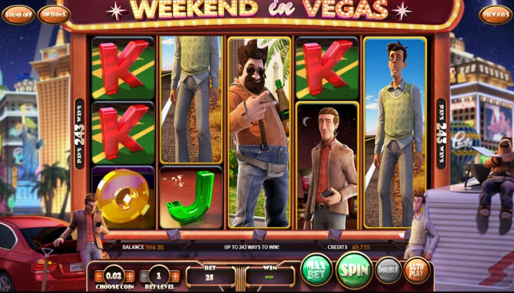 Weekend in Vegas slot Omnislots